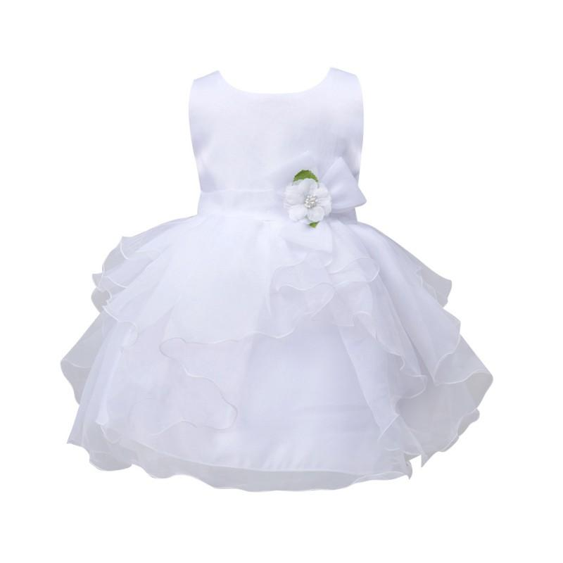 Hot Sale New Hot-selling Summer Baby Girls Kids Infant Princess Birthday Wedding Party Pageant Flower Gown Girl Dress