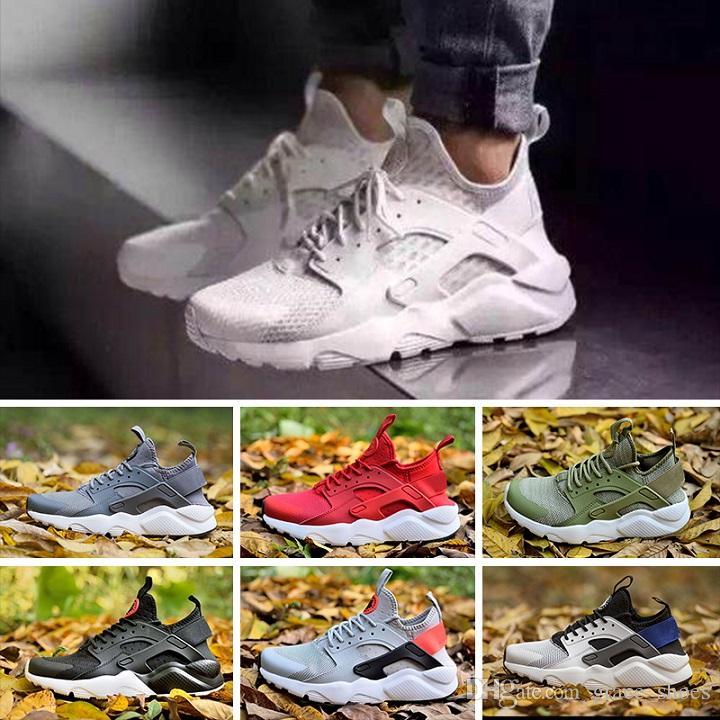 a33727031735 Compre Nike Air Huarache 4 Novo 2018 Huaraches Huaraches Arco Íris Ultra  Sapatos Das Mulheres Dos Homens Huaraches Multicolor Ao Ar Livre Sapatos  EUA SZ5.5 ...