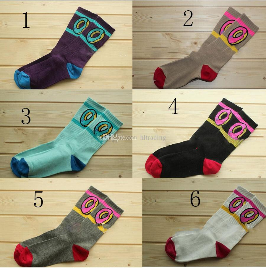 Çörek çorap Pamuk Basketbol Spor Çorap Çörek baskı Çorap 2018 yeni kadın Erkek büyük çocuk çorap 6 renkler C449