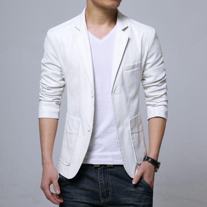 New Brand Men's Blazer Jacket Men Soft PU Leather Coat Male Fashion Khaki Blazer Masculino Slim Fit Suit Style Casual Blazer 441