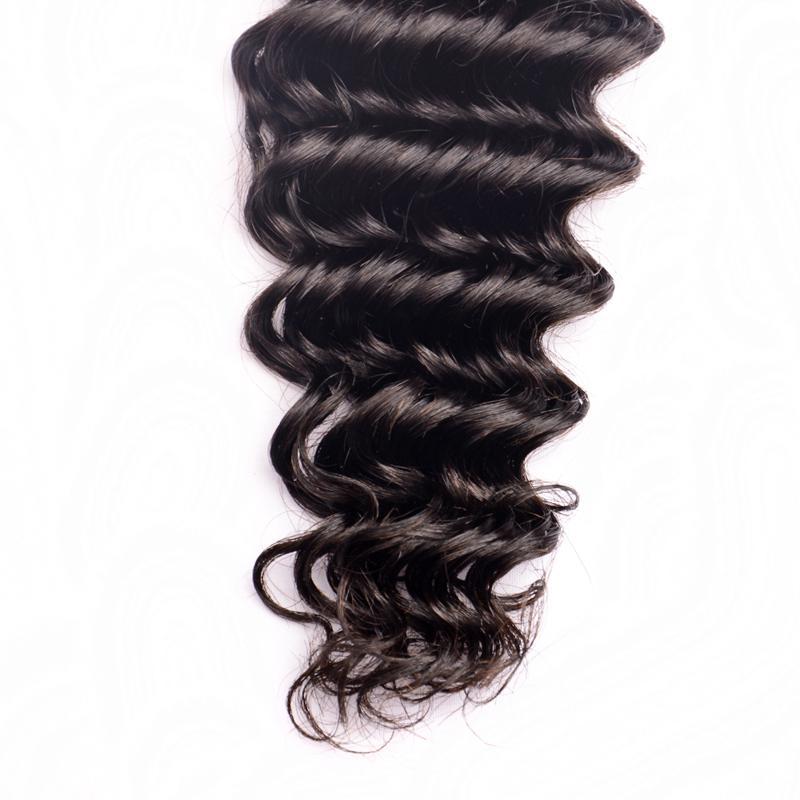 8A Brasilianische Tiefe Welle 3 Bundles mit Spitze Frontal Schließung Großhandel Peruanische Indische Malaysische Reine Haar Lockige Webart Menschliches Haar Extensions
