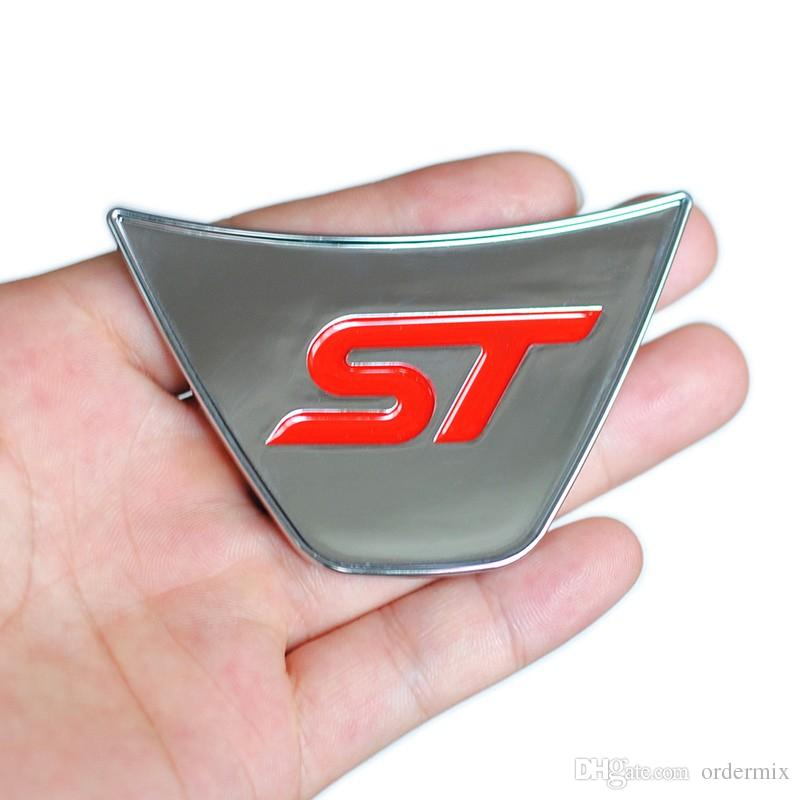 Cool Sport ST Logo Steering Wheel Sequins Sticker ABS Chrome Cover Sticker for Ford Fiesta Ecosport 2009 - 2015 Auto Accessories