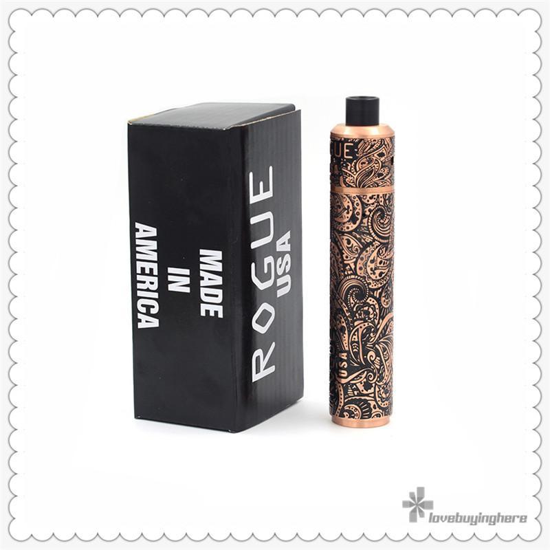 Retail Rogue USA Mod Kit Vape Mechanical Mod Best Vape Mod Kits Clone Rogue Mech Mods Carved Singe 18650 Mech Mods