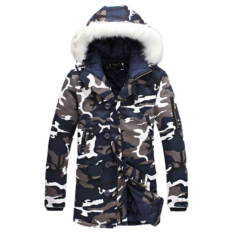 3a5f9e6ea29 2019 Wholesale 2017 Winter Plus Size Mens Camouflage Down Jacket Faux Fur  Hooded Light Duck Down Coat 4XL 5XL Long Oversized Warm Fleece Jacket From  Freea