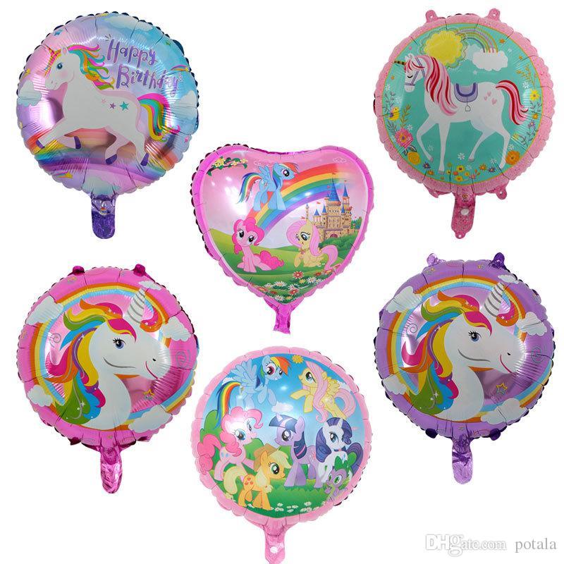 18 \'\' Aluminium Beschichtung Einhorn Ballons aufblasbare 46 CM Geburtstag Ballons Party Decor Hochzeit Weihnachten Weihnachten Neuheit Gag Halloween ...