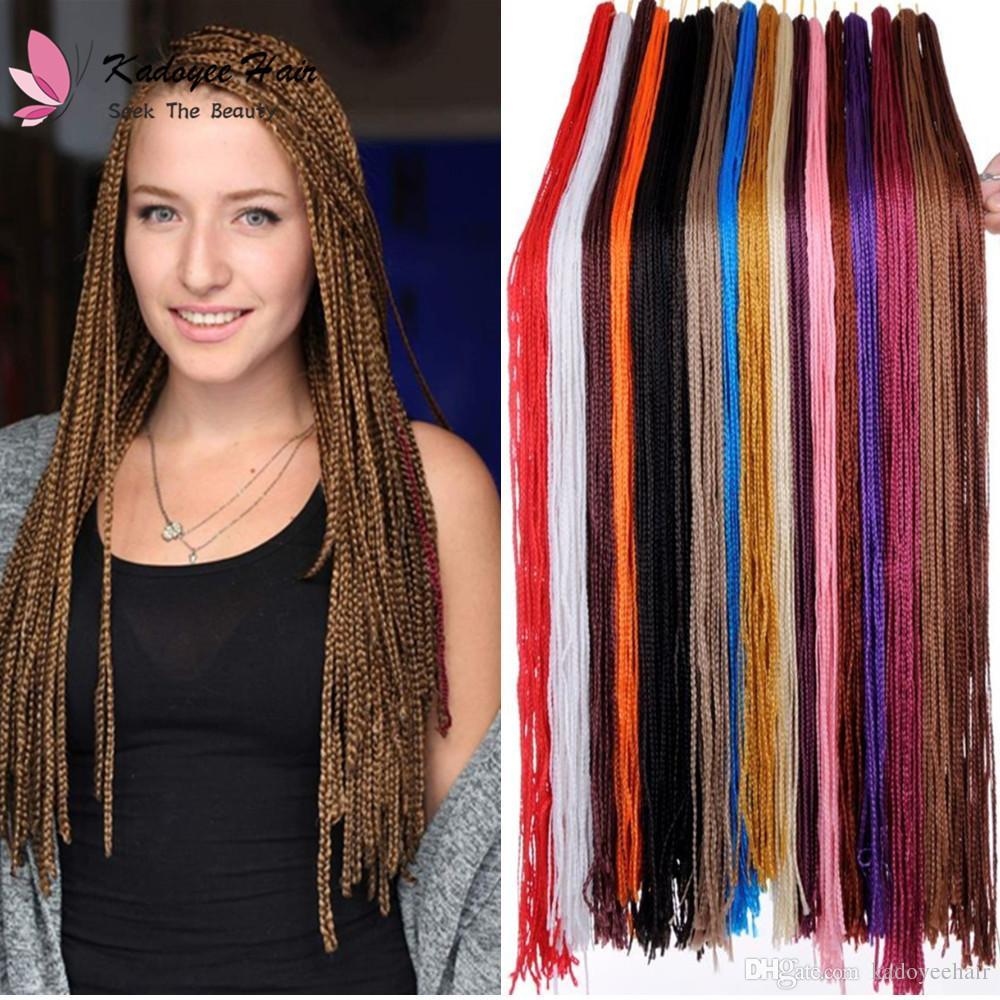 2018 Bohemian Style Long Micro Box Braiding Hair 30inch Crochet 3s
