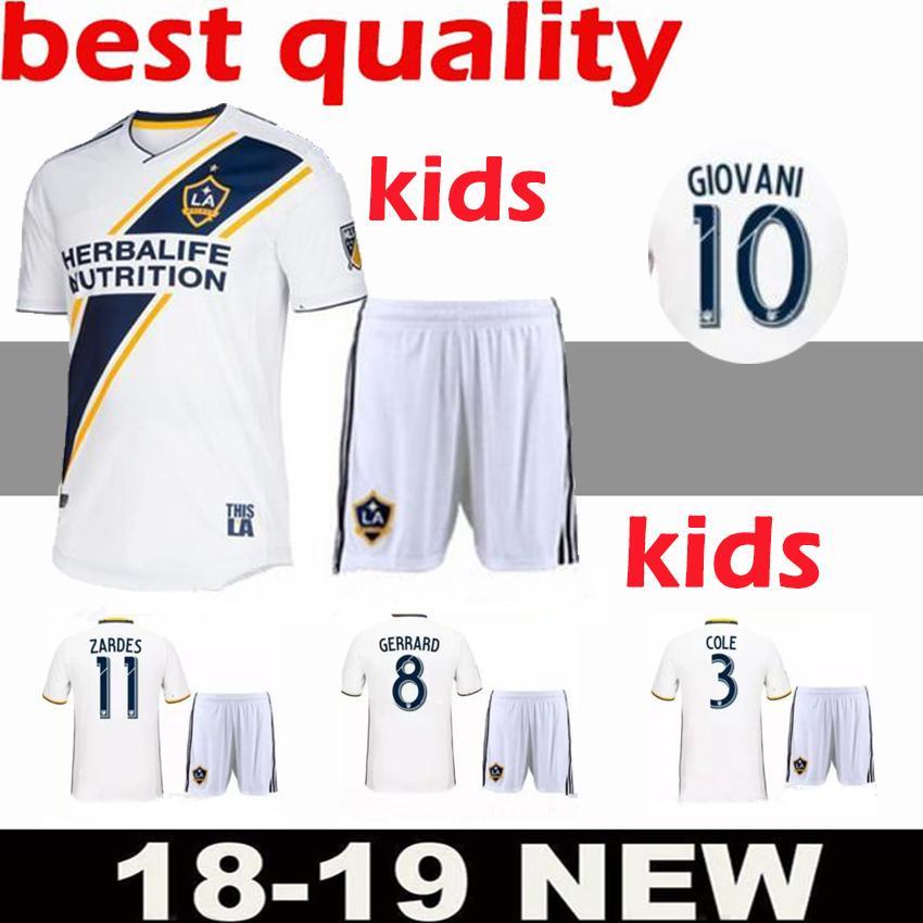 super popular 8be27 dc429 2018 LA Galaxy kids kit home Soccer jersey 18 19 Los Angeles Camisa  Ibrahimovic ALESSNDRINI J.DOS SANTOS child kit football shirt uniforms