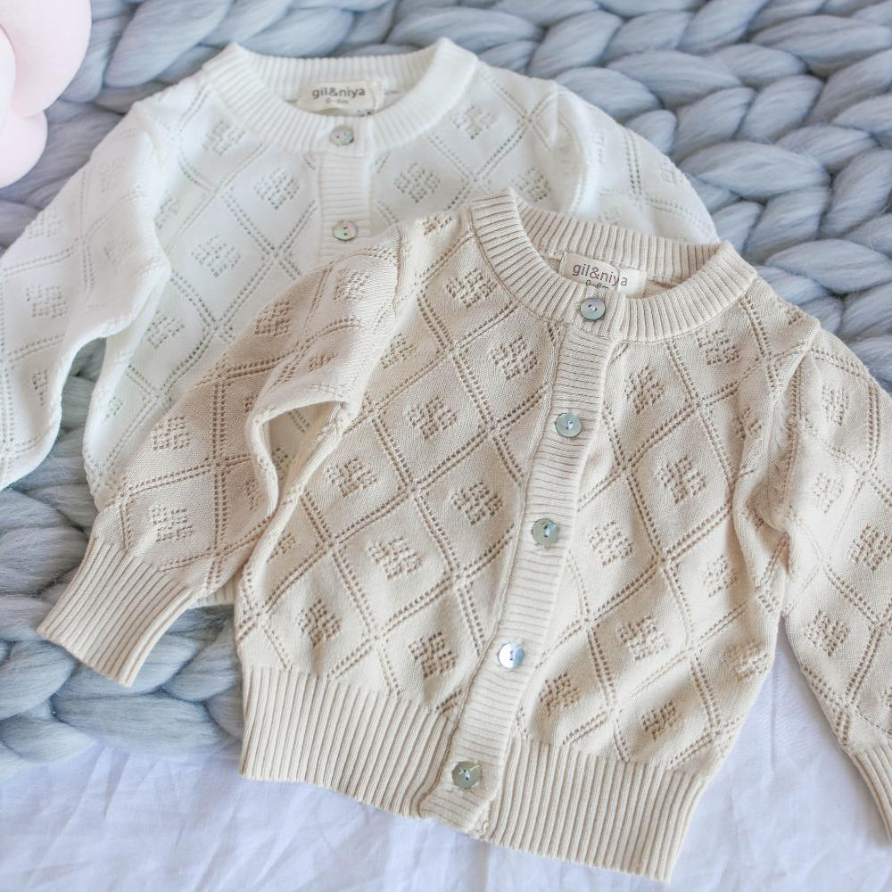 0 2years Wholesale 2018 New Cotton Spring Solid Beige White Hollow ...