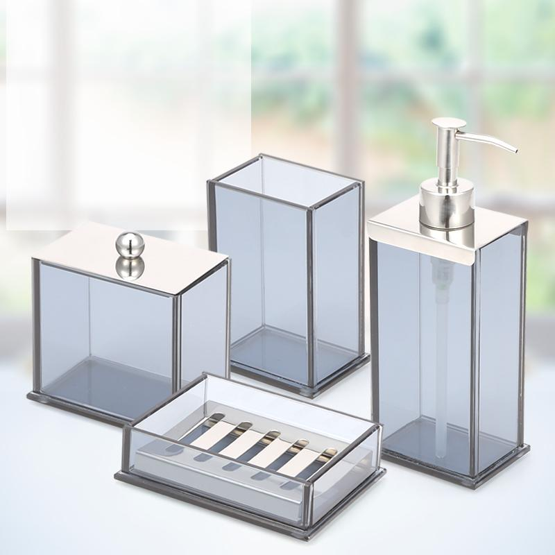 2019 ANHO Crystal Glass Bathroom Set European Style Bathroom Accessories  Lotion Bottle Resin Cup Soap Dish Cotton Box Kit From Serlima, $23.16 |  DHgate.Com