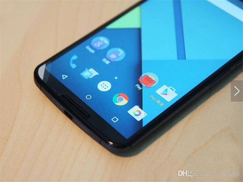 Refurbished Original Motorola MOTO Nexus 6 XT1100 XT1103 6.0 inch Quad Core 3GB RAM 32GB 64GB ROM 13MP 4G Android Mobile Phone Free DHL