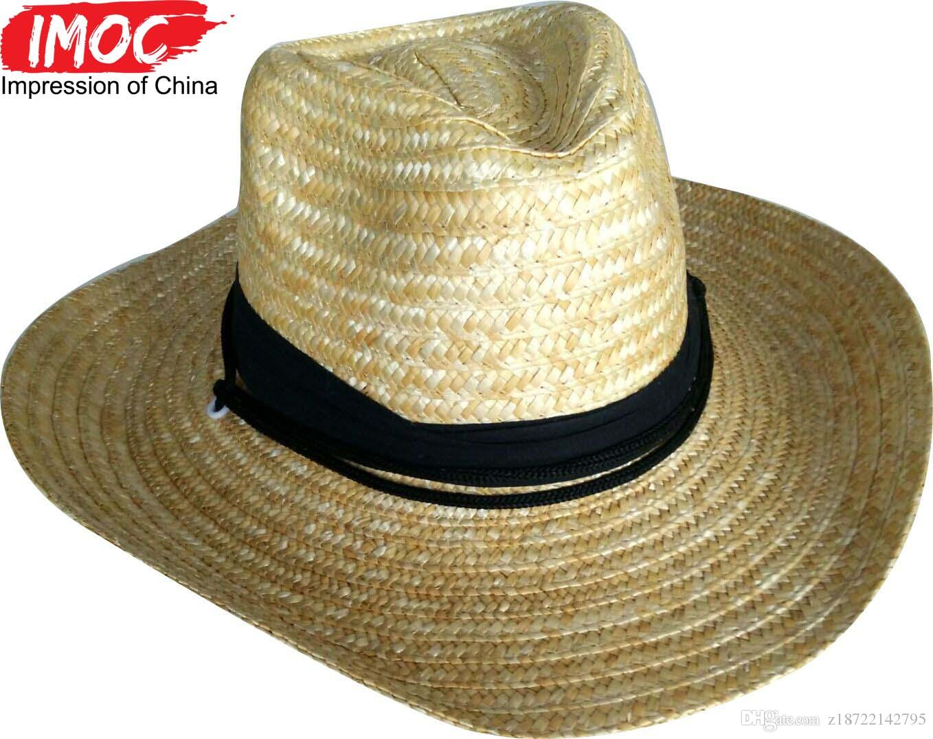 Handmade Cowboy Hat Fashion Chapeu Hats Summer Wide Brim Sun Straw Hat Mens  And Womens Hats Double Purpose Folding Faddish Women Big Straw Hats And  Caps ... 7944fea0409