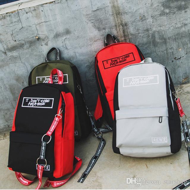 6dc875a6c7 Women Backpack Letter Canvas Backpack Male Mochila Escolar Girls Laptop Backpack  School Bags For Teens Q 63 Backpacks For Kids Bookbag From Starsbag