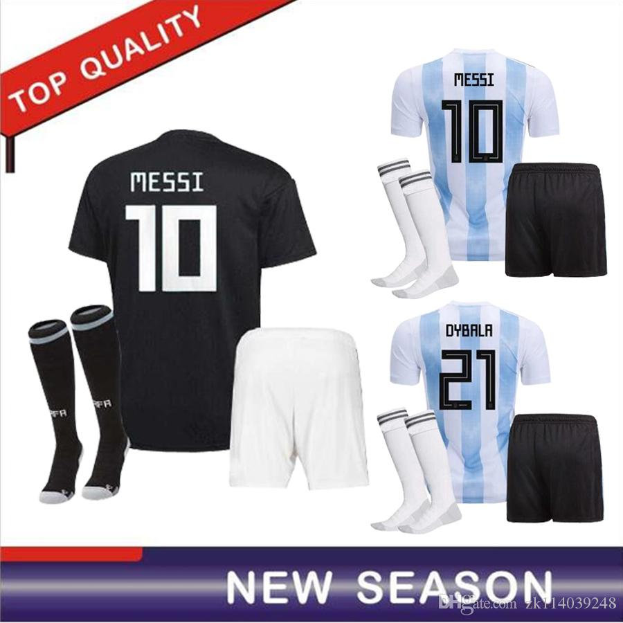 9d451767169 2019 2018 World Cup Argentina Away Set Soccer Jersey Messi Aguero Di Maria  2018 Argentina Home Kits Kit Blue Soccer Shirt Football Uniform From  Zk114039248