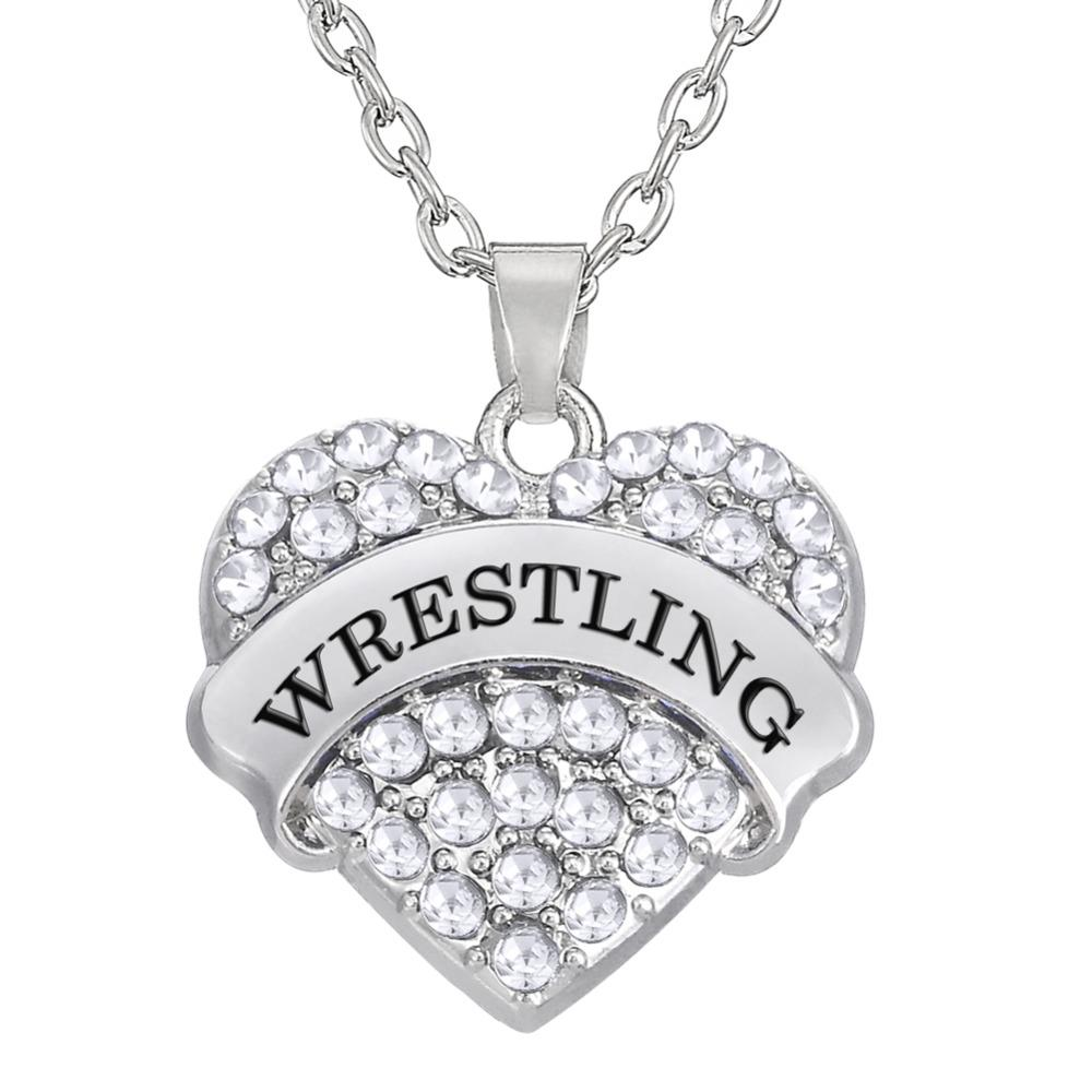 2018 whole salemy shape zinc alloy rhodium plated sporty wrestling 2018 whole salemy shape zinc alloy rhodium plated sporty wrestling pendants heart charms long necklace for men or women gifts from pickled 2336 dhgate aloadofball Image collections