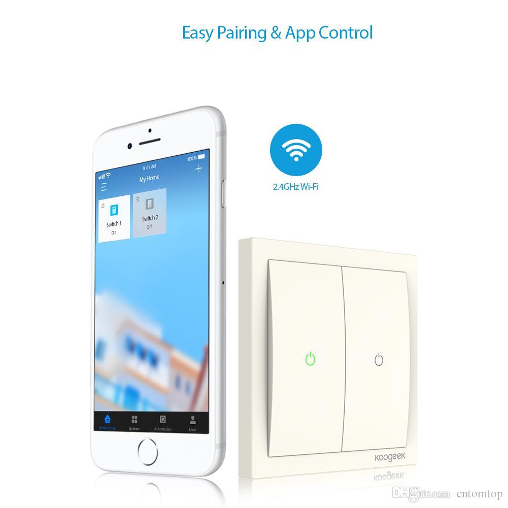 2018 Koogeek Two Gang Wi Fi Enabled Smart Light Switch 220~240v ...