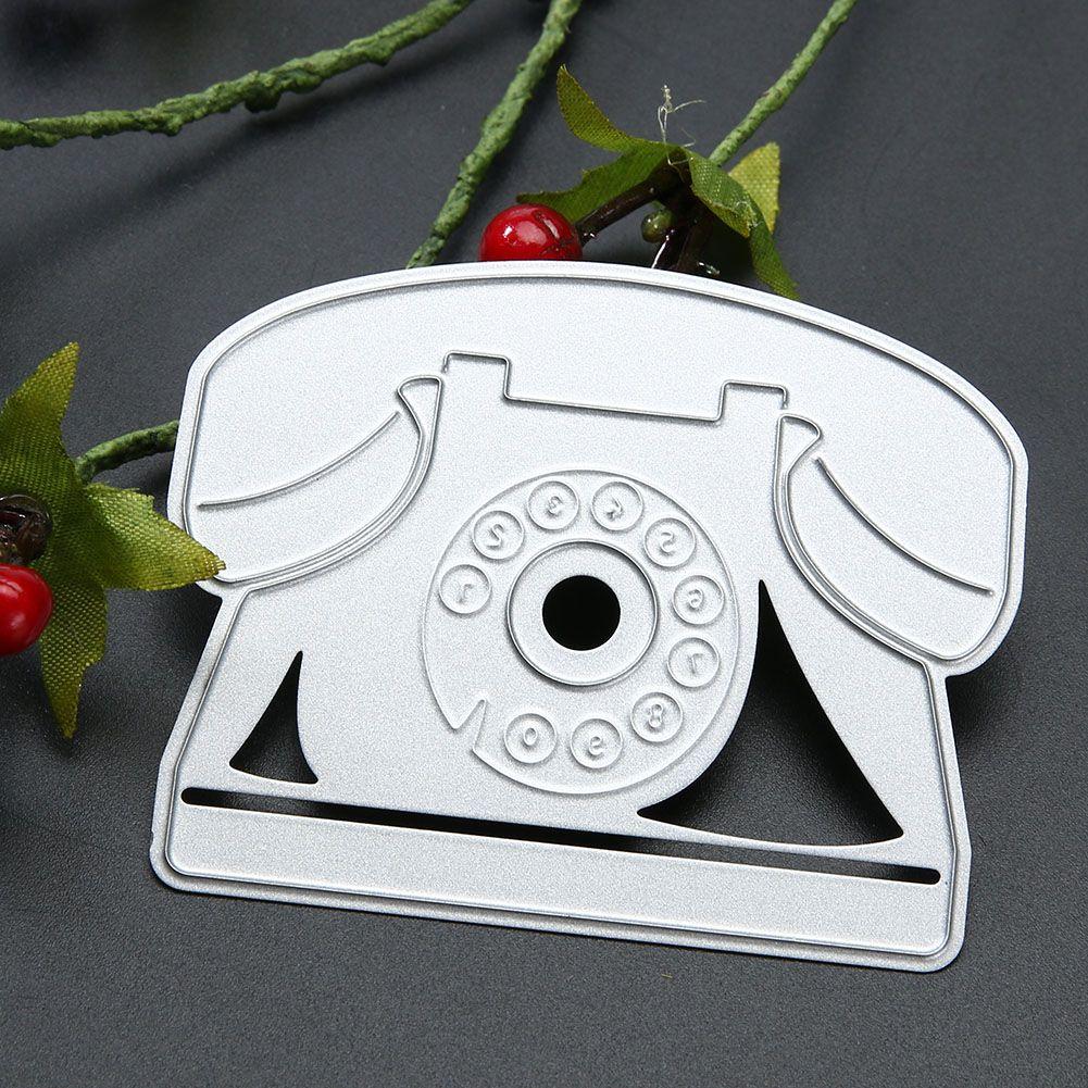 Landline Telephone Design Decorative Metal Cutting Dies Stencil for Photo Album DIY Scrapbooking Embossing Dies Cutter