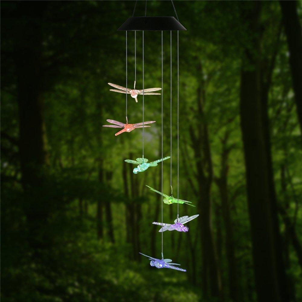 2018 dragonfly led solar panel wind chime night light color 2018 dragonfly led solar panel wind chime night light color changing garden outdoor lighting solar lamp for home garden decoration from burty mozeypictures Choice Image