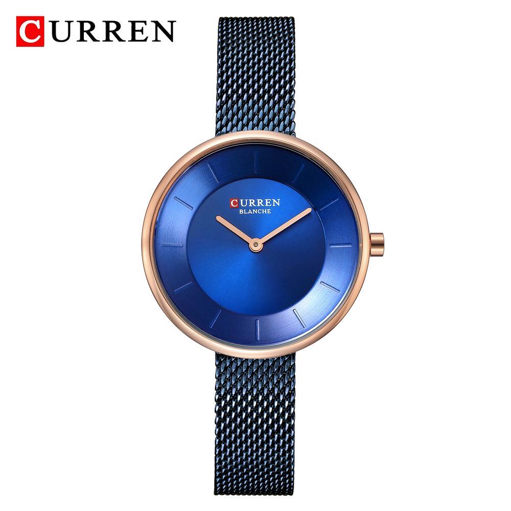 ab6ce178d8f Compre CURREN Relógio De Luxo Mulheres Vestido Pulseira Relógios Moda  Simples Ocasional Relógios De Pulso De Quartzo Mulher Clássico Relógio De  Negócios Das ...