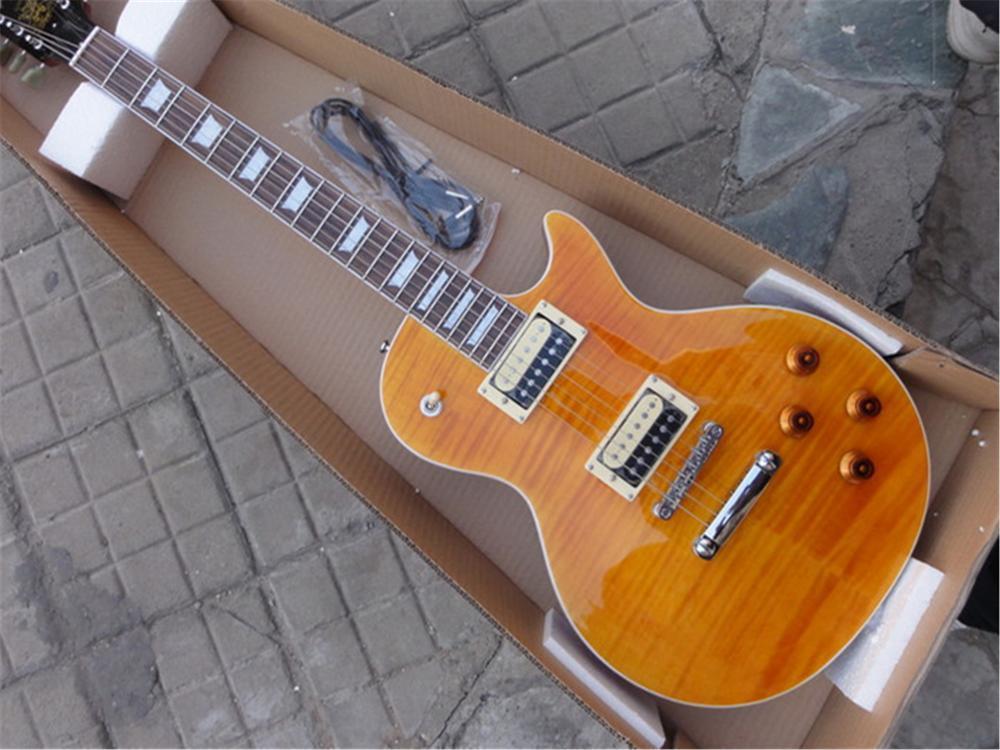 Acheter Guitare Électrique Jaune Foncé Burst Maple Lp, Micros Zebra, Guitare  Électrique Lp Acajou Massif Personnalisé D usine, Livraison Gratuite De   368.78 ... b4ce10a3214