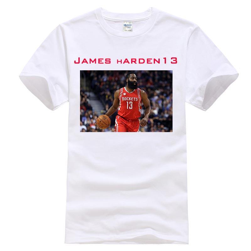 bc079b8c23db James Harden 13 T Shirt Basketballer Top Tee Men 100% Cotton James ...