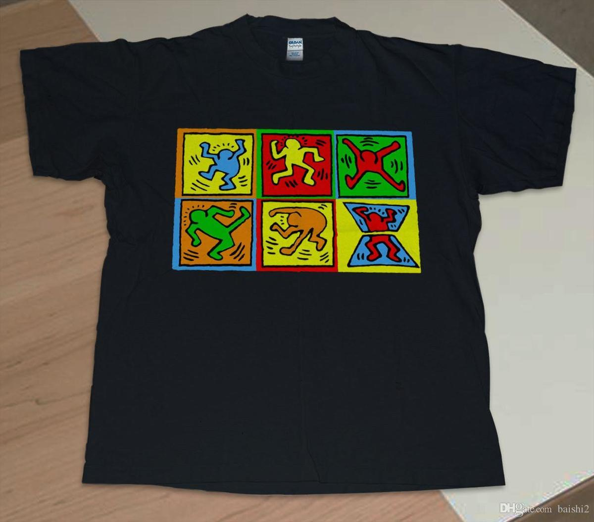 Vintage 90s KEITH HARING Artwork T Shirt Reprint Shirt Men S Clothing Low  Price Round Neck Men Tees Shirts Fun Tshirts Party T Shirts From Lijian033 682349848