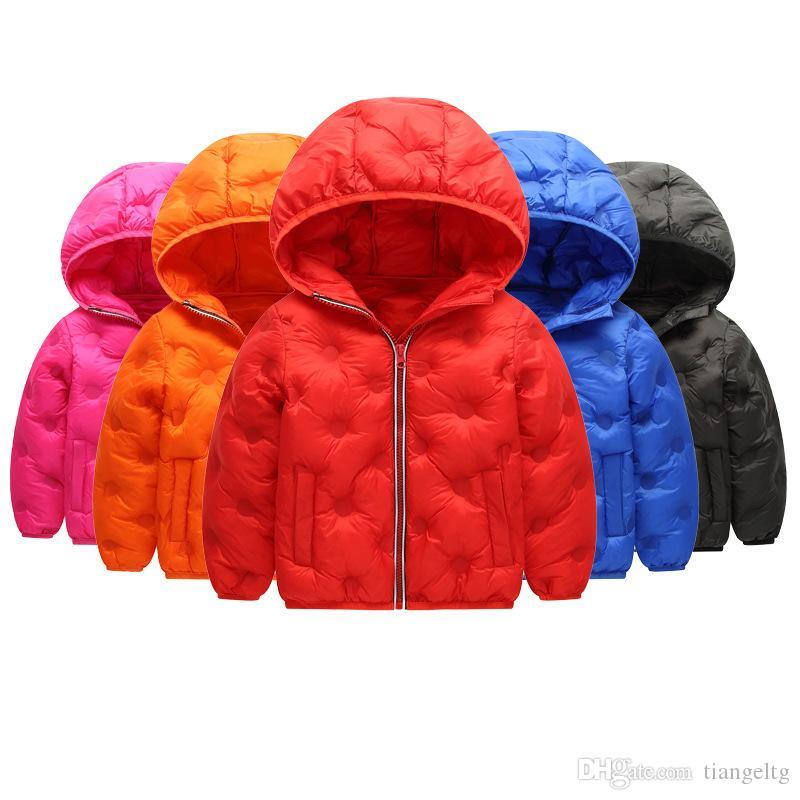 554effa0230e Kids Down Hoodies Coats Cotton Lighter Zipper New Pressing ...