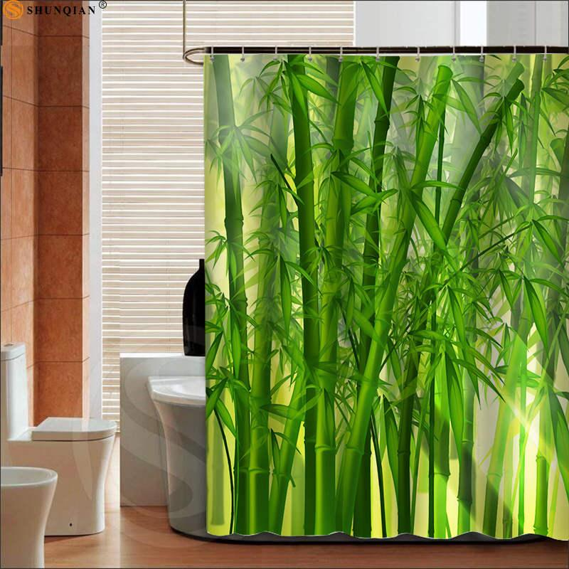 2019 Best Bamboos Shower Curtain Spa Decor Mildew Resistant Bathroom Zen Garden Theme View For Big 180X200cm From Sophine12