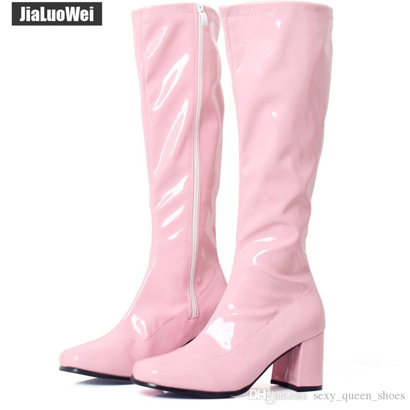 187c8b9d4b0 New halloween pink go ladies retro boots for women jpg 802x802 Pink dress  boots for women