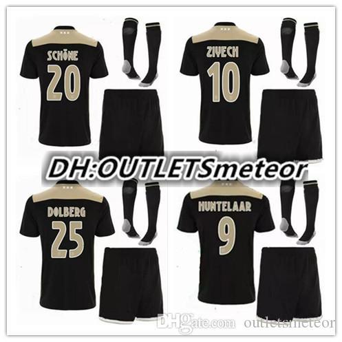 2019 Ajax Soccer Jersey 18 19 Ajax FC ADULT Kit Jerseys Away KITS 2018 2019  Customized KLAASSEN NOURI Football Uniform FULL SET WITH SOCKS From ... 00db32fde