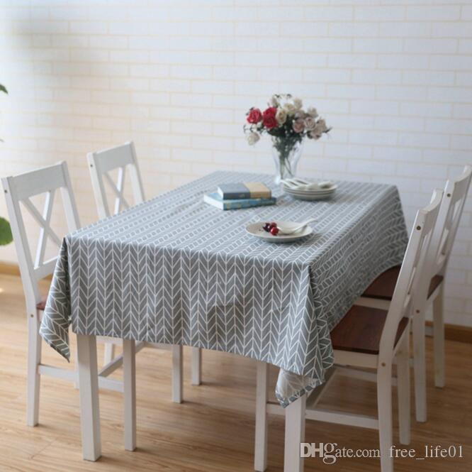 Newly Linen Tablecloth With Grey Grid Chessboard Table Cloth Art Dinner  Table Cloth Home Decoration Trendy Table Cover For Wedding Party Linen  Tablecloths ...