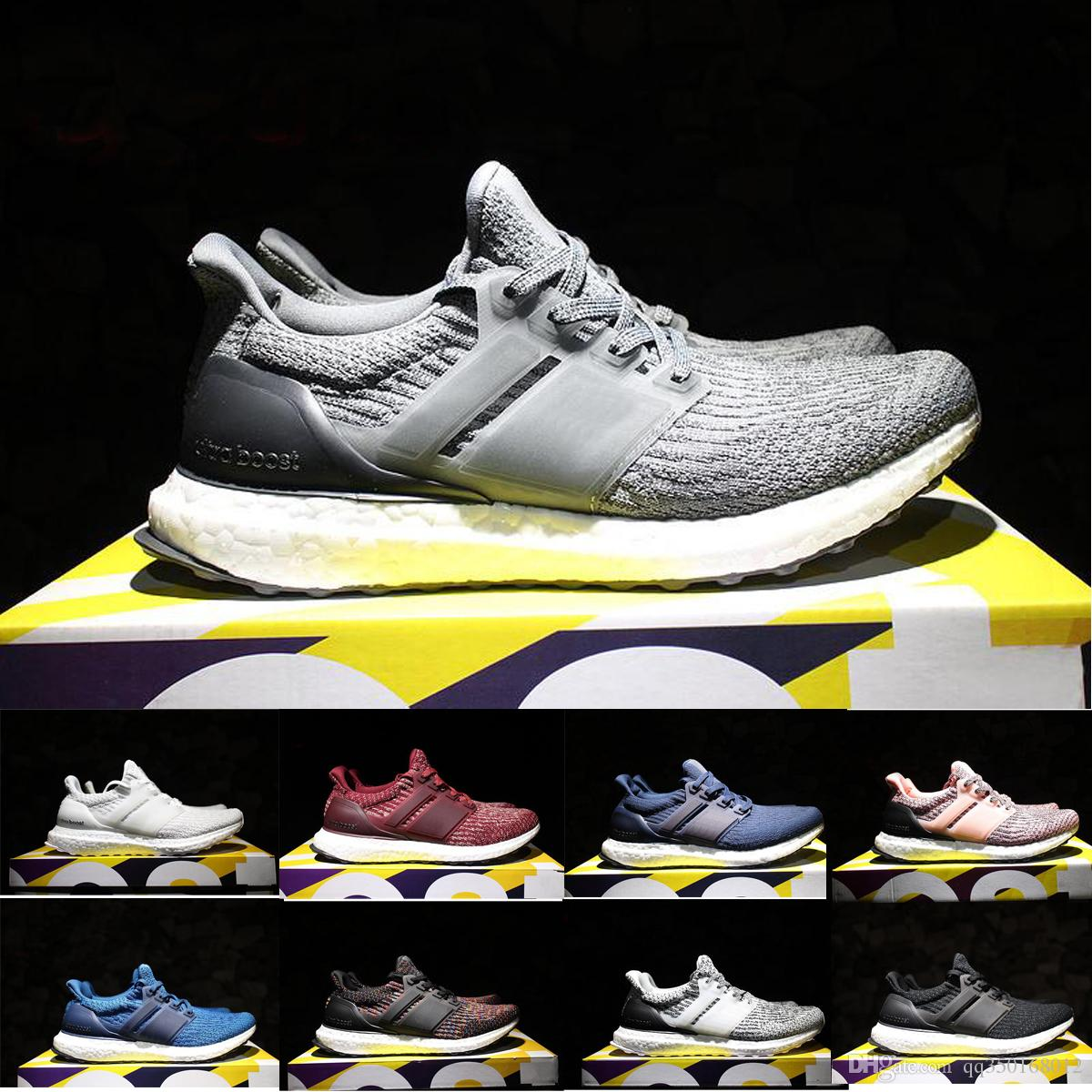 quality design 803e8 ba708 Compre Adidas Ultra Boost Shoes 2017 Ultra Boost 3.0 Triple Negro Blanco  Cny Oreo Azul Hombres Mujeres Zapatillas De Running Ultraboost Primeknit  Zapatos ...