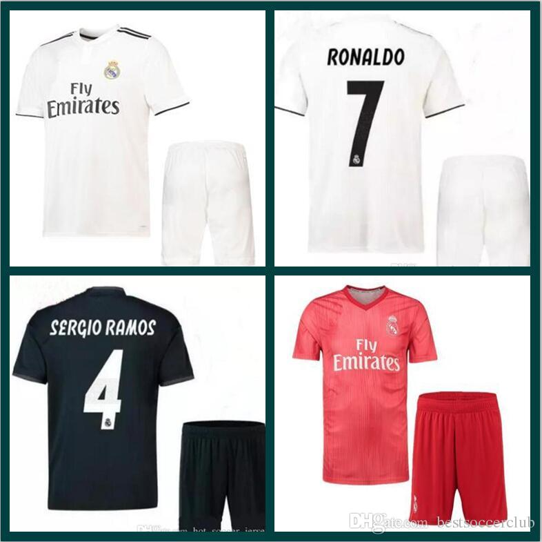 18 19 Real Madrid Home Soccer Jersey Men Kits 2018 2019 Campeones MODRIC  Asensio BALE ISCO Away 3rd Red Adult Football Shirt Uniforms UK 2019 From  ... 8aed69c86