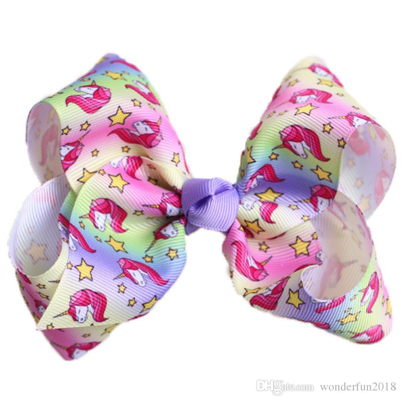 Colorful 5 Inch Hair Bows hairpin for Baby Girls Bow for Girls kawaii hair accessories