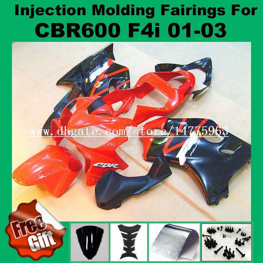 Juegos de carenado de llama para HONDA CBR600F4i CBR600RR F4i 01 02 03 CBR 600 F4i CBR 600F4i 2001 2002 2003 Kit de carenado de moldeo por inyección