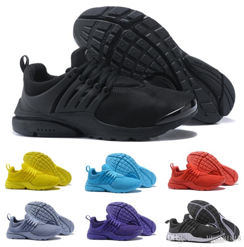 new concept 9aebd 71978 ... Qualité Airs Presto 5 BR QS Tous Jaune Blanc Bleu Chaussures De Course Hommes  Femmes Prestos Occasionnel Marcher De Mode Sneakers Taille 36 46 De  35.83  ...
