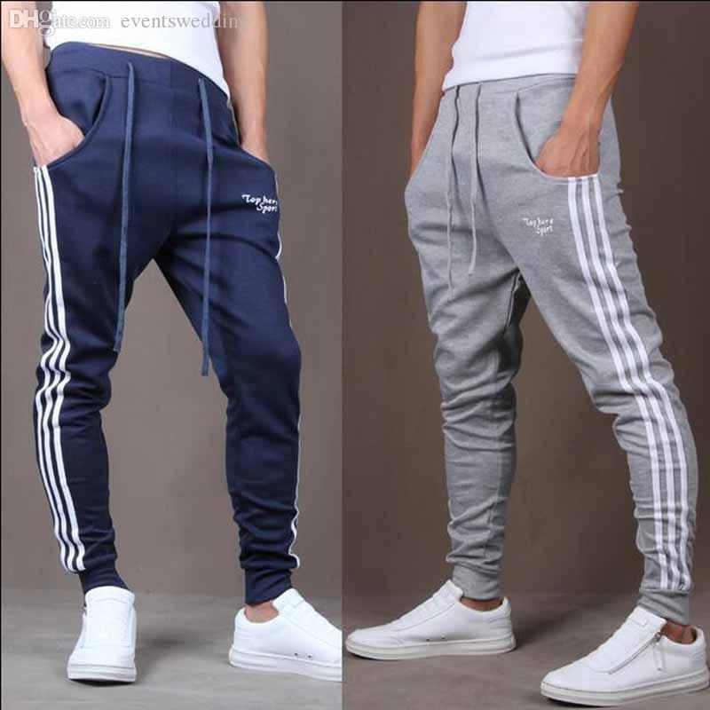 Wholesale-Cool Design Men Casual Sweatpants Big Pocket Summer Gym Clothing Army Trousers Hip Hop Harem Pants Mens Joggers 2 Colors