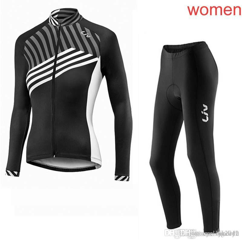 13a0ca2f4 LIV Team Cycling Long Sleeves Jersey Pants Sets Thin 100% Polyester  Breathable Clothes Bike Women Sportwear New C2035 LIV Cycling Clothing  Cycling Clothing ...