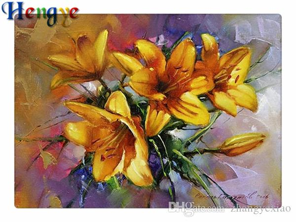 Diy pintura diamante kit ponto cruz strass mosaico home decor presente flor tulipa amarela completa roundsquare diamante 5D bordado yx2194