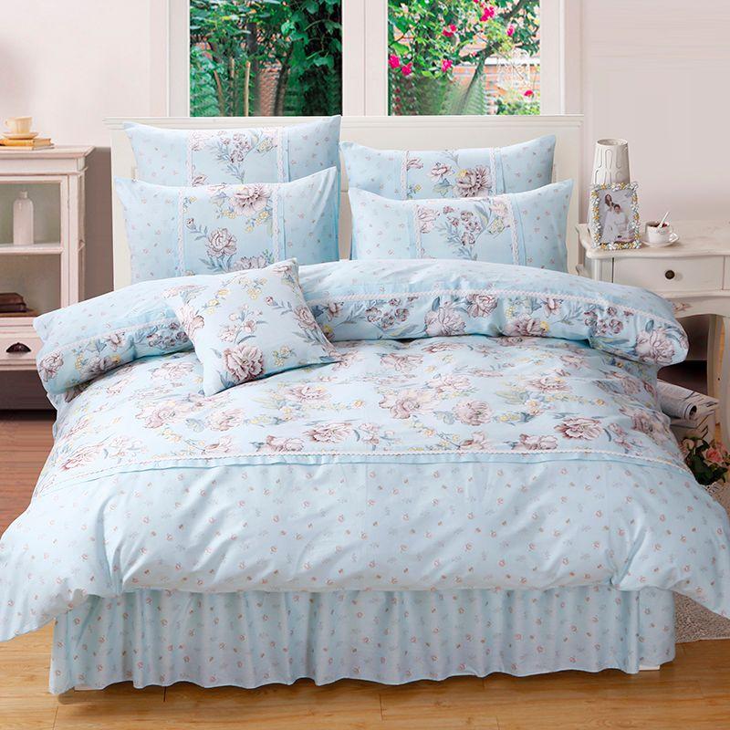 Princess Floral Bedding Set For Girls Women 100 Cotton Duvet Cover