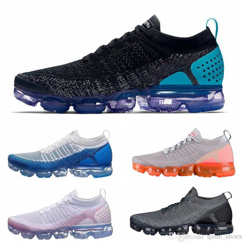 New 2018 VaporMax 2.0 Knit Men Women Running Shoes Fashion Black ... f3014d28b