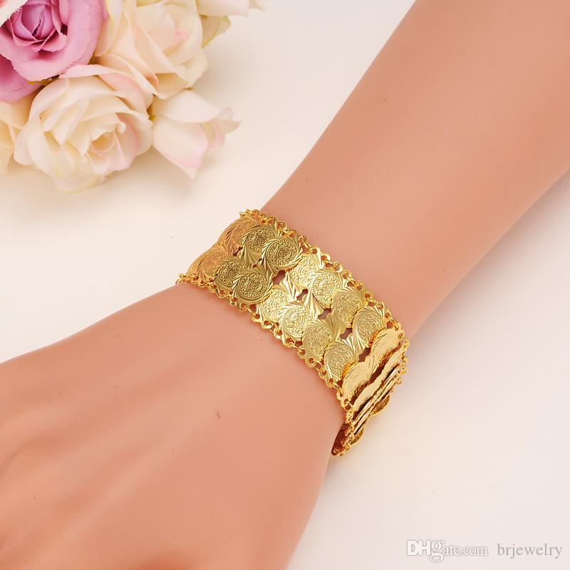 Großhandel Bangrui Geld Münze Armband Gold Farbe Islamischen
