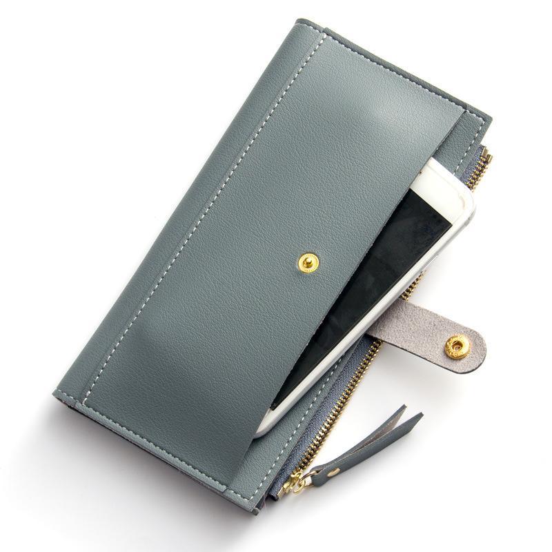 Baellerry 2017 Fashion Women Wallet Korea Style Zipper & Hasp Bifold Card Holder PU Leather Wallets Women's Clutch Long Purse
