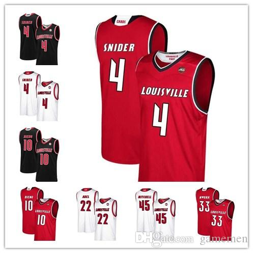3d48c0fa4 2019 Men S Louisville Cardinals 0 Terry Rozier 4 Quentin Snider 14 Anas  Mahmoud 13 Ray Spalding 12 Jacob Redding College Basketball Jersey From  Gamemen