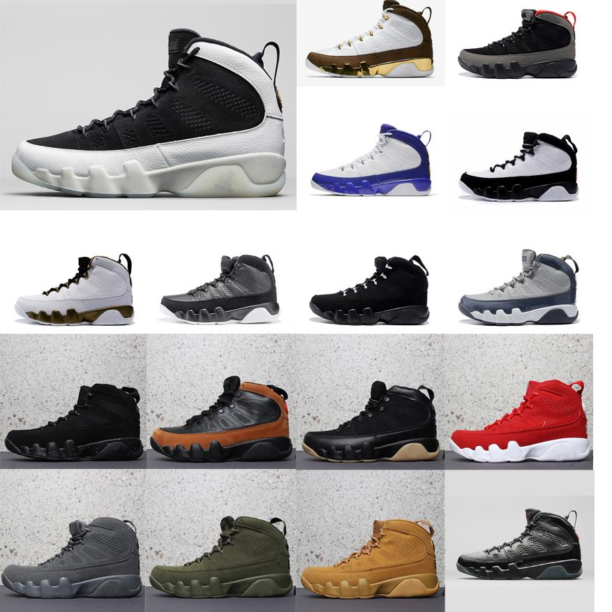 sports shoes 35c97 6b504 2019 Mens Retro 9s Basketball Shoes J9 Black White LA Mop Melo Wheat  Anthracite Green Glow Lakers Bred Aj9 Jumpman 9 IX Sneakers Boots With Box  From ...