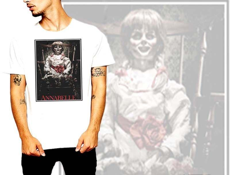 horror, Scary Doll movie, Annabelle, t shirt, Halloween, S-2XL, new, cotton