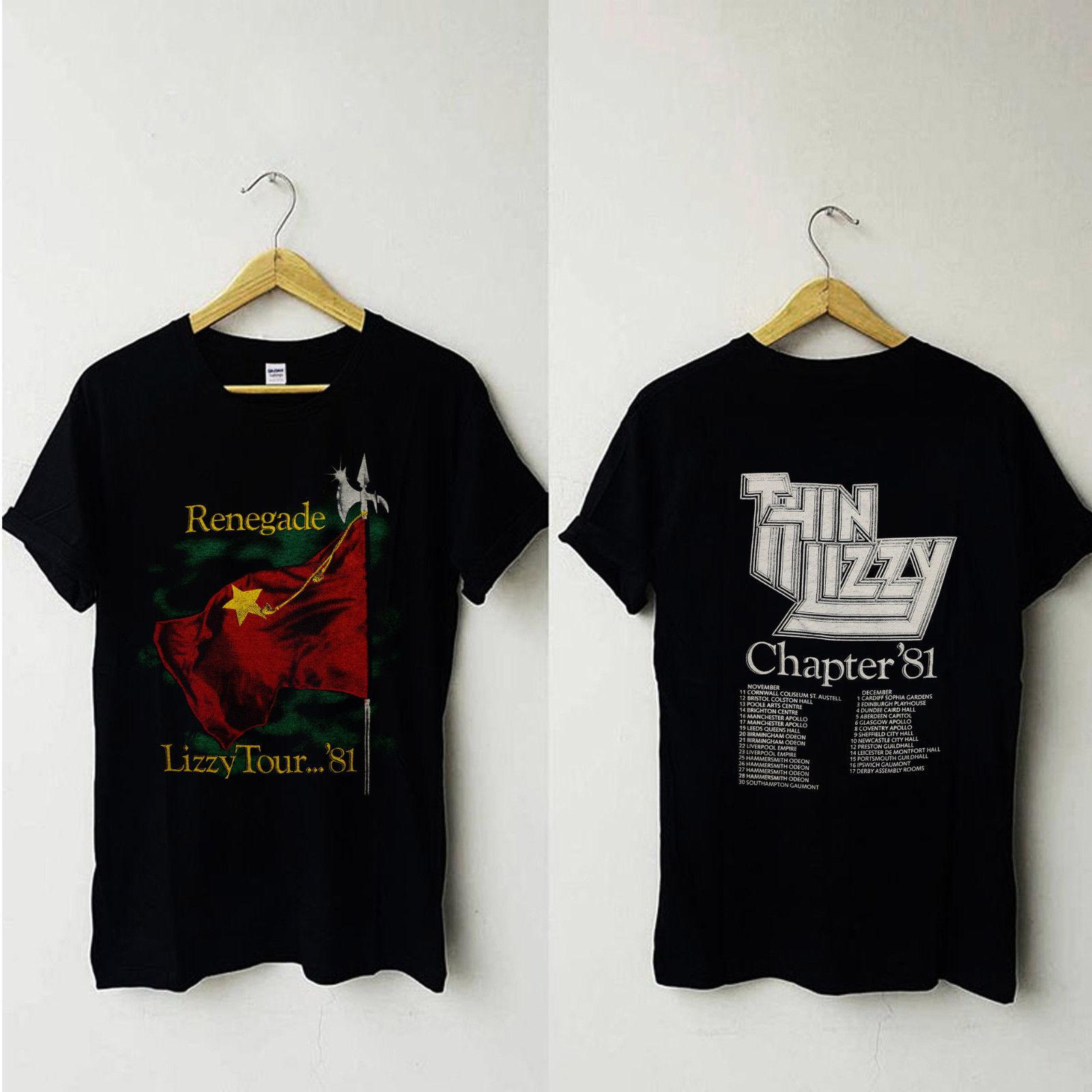 14cd32d06b3 Vintage Thin Lizzy 1981 Renegade Tour Heavy Metal Blues Rock Band Tshirt  Reprint 2018 New Men Tee 2018 Fashion T Shirts Patriotic T Shirts Funny  Tshirt From ...