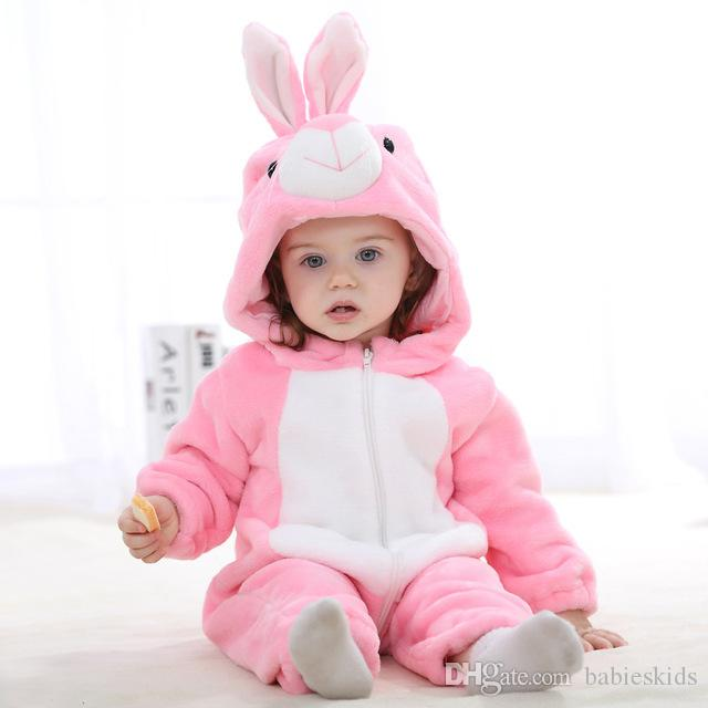 da2dd997141b 2019 Cute Baby Romper Infant Boys Girls Jumpsuit New Born Cosplay Clothing  Hooded Toddler Baby Clothes Cute Rabbit Romper Baby Costumes From  Babieskids