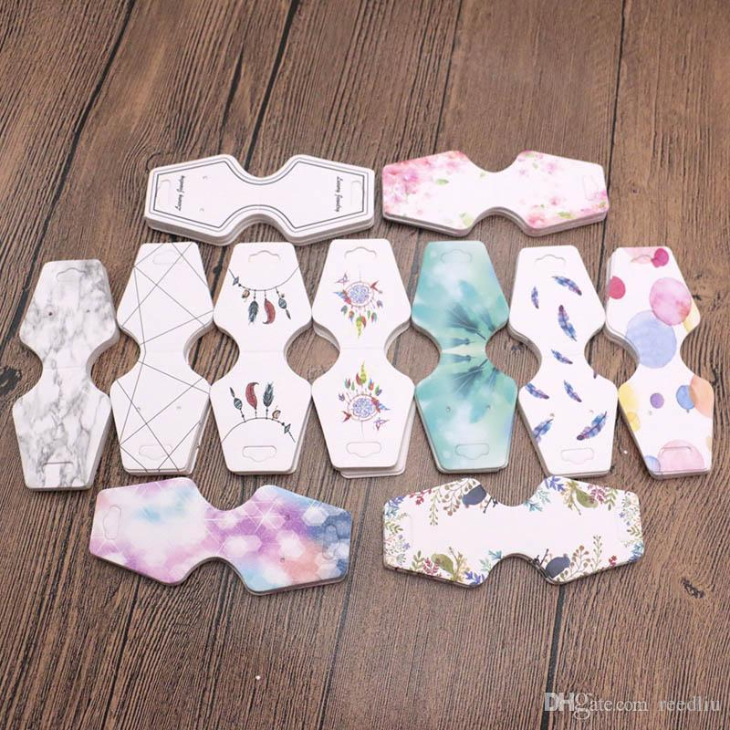 Jewelry Packaging & Display 100pcs 4.5x10.8cm Colorful Paper Cards Printing Jewelry Necklace Bracelet Hang Tag Jewelry Display Cards Label Tag High Quality Goods