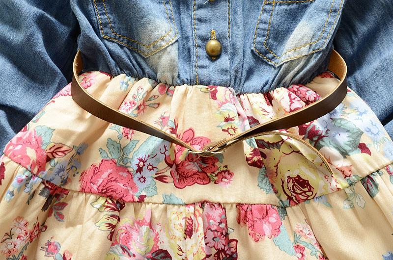 2016 Herbst und Winter Kinder Kleid Anzug Baby Kleidung Baby Mädchen Kleid Set