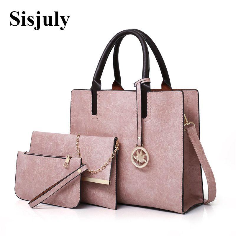 97f6376205 Sets Bag Women Leather Handbag Luxury Female Shoulder Bags Designer Big  Crossbody Bags For Women 2018 Famous Brand Tote Sac S921 Duffle Bags Clutch  Bags ...